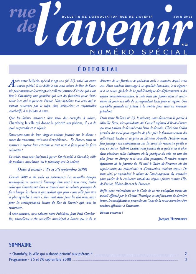 Bulletin #22 Juin 2008