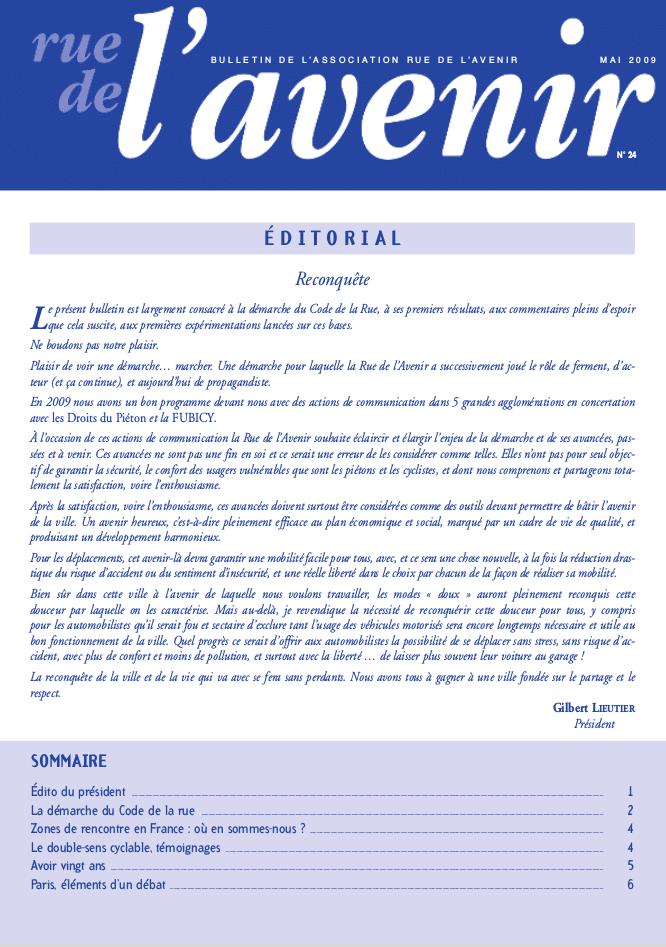 Bulletin #24 Mai 2009