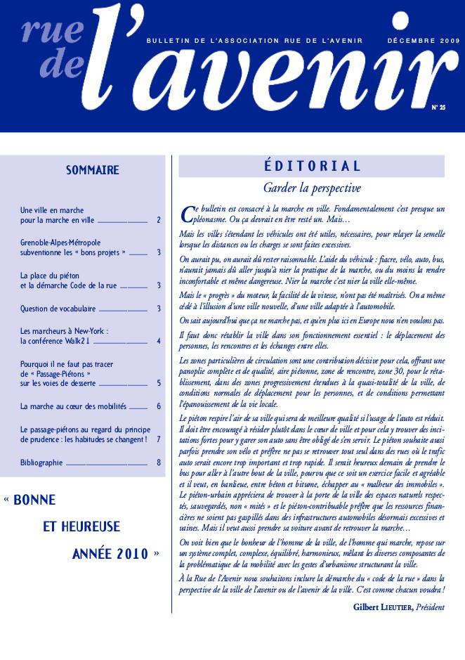 Bulletin #25 Décembre 2009