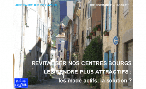 Revitaliser nos centres bourgs, les rendre plus attractifs : les modes actifs, la solution ?