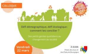 Colloque Villes amies des aînés : Défi démographique, défi écologique : comment les concilier