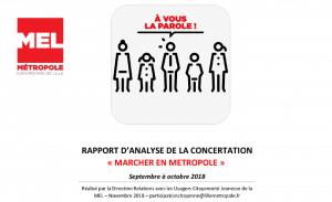 Rapport d'analyse de la concertation Marcher en Métropole Lille