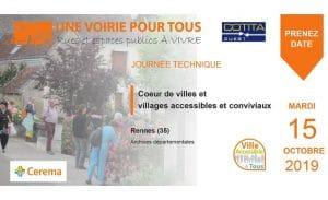 Journée UVT : Coeur de villes et villages accessibles et conviviaux 15/10/19 à Rennes