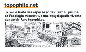 Lancement de la nouvelle revue Topophile