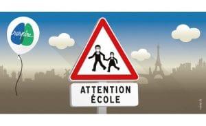 Rue de l'avenir co-signe le communiqué sur la piétonnisation des abords d'école à l'initiative de RESPIRE